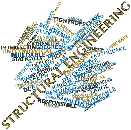 structural: Abstract word cloud for Structural engineering with related tags and terms