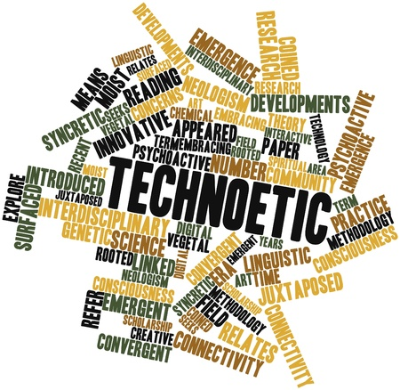 neologism: Abstract word cloud for Technoetic with related tags and terms