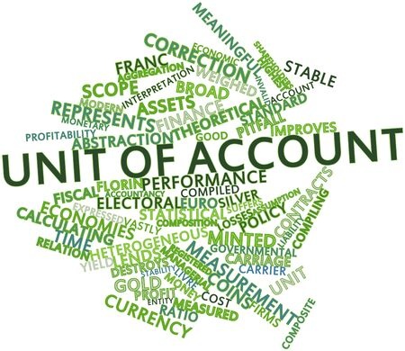 Abstract word cloud for Unit of account with related tags and terms Stock Photo - 16560057