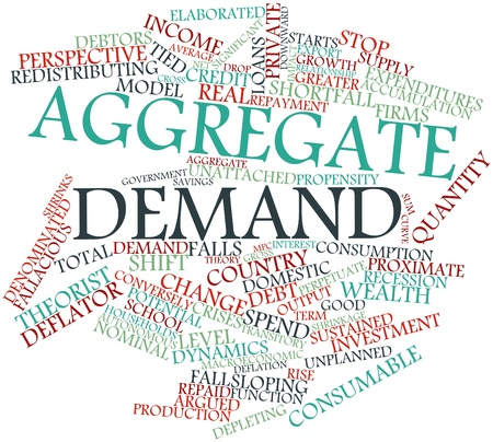 macroeconomic: Abstract word cloud for Aggregate demand with related tags and terms