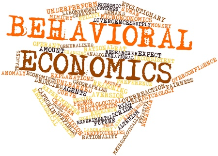 hipotesis: Nube palabra abstracta para la economía del comportamiento con las etiquetas y términos relacionados