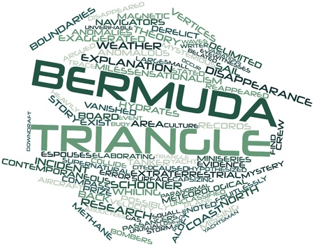 Abstract word cloud for Bermuda Triangle with related tags and terms