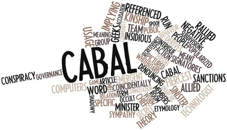intrigue: Abstract word cloud for Cabal with related tags and terms