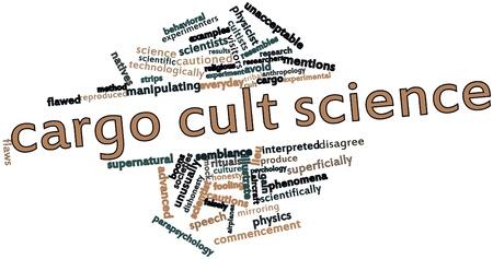 semblance: Word cloud astratto per la scienza Cargo culto con tag correlati e termini
