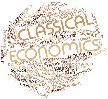 Abstract word cloud for Classical economics with related tags and terms