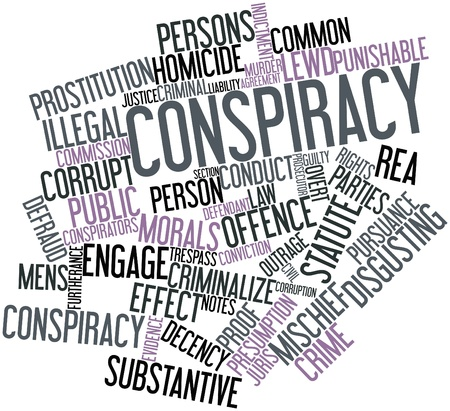 overt: Abstract word cloud for Conspiracy with related tags and terms