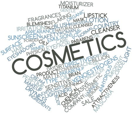 Abstract word cloud for Cosmetics with related tags and terms Stock Photo - 16559719
