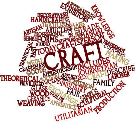 utilitarian: Abstract word cloud for Craft with related tags and terms