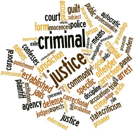zdradę: Abstract cloud słowo Criminal Justice z pokrewnymi tagów oraz warunków