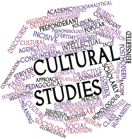 pedagogical: Abstract word cloud for Cultural studies with related tags and terms Stock Photo