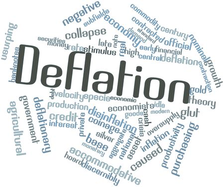 negative returns: Abstract word cloud for Deflation with related tags and terms