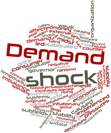 originate: Abstract word cloud for Demand shock with related tags and terms