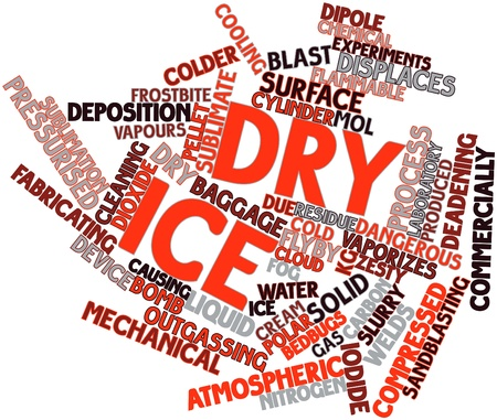 Abstract word cloud for Dry ice with related tags and terms Stock Photo - 16560281