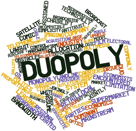 Abstract word cloud for Duopoly with related tags and terms Stock Photo - 16560413