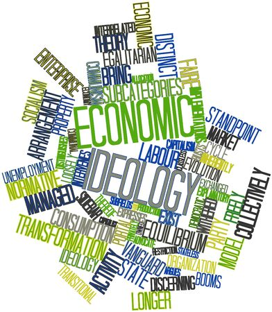 explanatory: Abstract word cloud for Economic ideology with related tags and terms