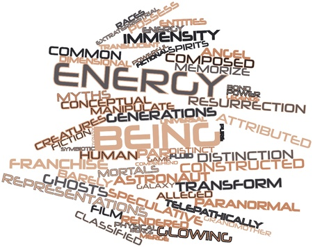 alleged: Abstract word cloud for Energy being with related tags and terms Stock Photo