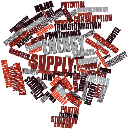 potentially: Abstract word cloud for Energy supply with related tags and terms