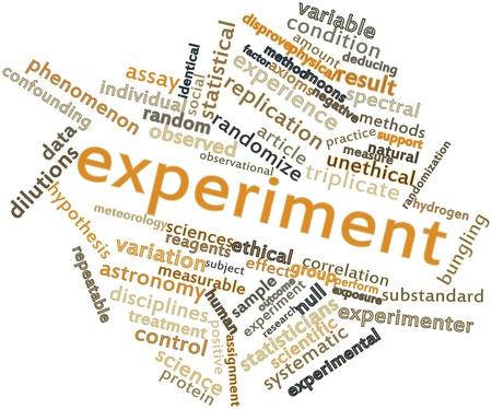 hipótesis: Nube palabra abstracta para el experimento con las etiquetas y términos relacionados