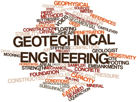 friction: Abstract word cloud for Geotechnical engineering with related tags and terms Stock Photo