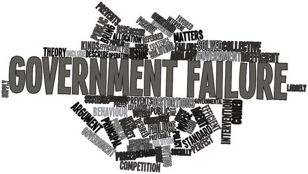 preferable: Abstract word cloud for Government failure with related tags and terms