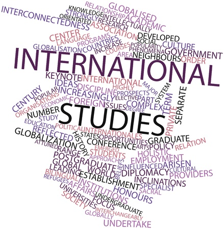 Abstract word cloud for International studies with related tags and terms Stock Photo - 16560415