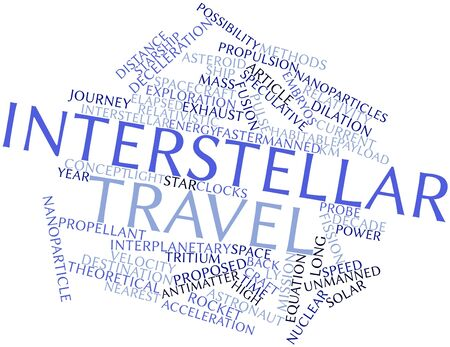 interstellar: Abstract word cloud for Interstellar travel with related tags and terms