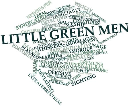 Abstract word cloud for Little green men with related tags and terms Stock Photo - 16559789
