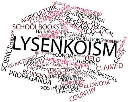 関連するタグと用語ルイセンコ論争の抽象的な単語雲
