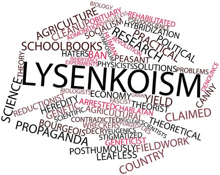hybridization: Abstract word cloud for Lysenkoism with related tags and terms Stock Photo
