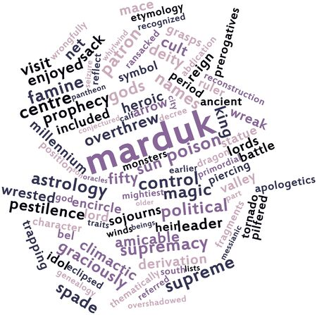 encircle: Abstract word cloud for Marduk with related tags and terms
