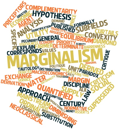 Abstract word cloud for Marginalism with related tags and terms Stock Photo - 16560150