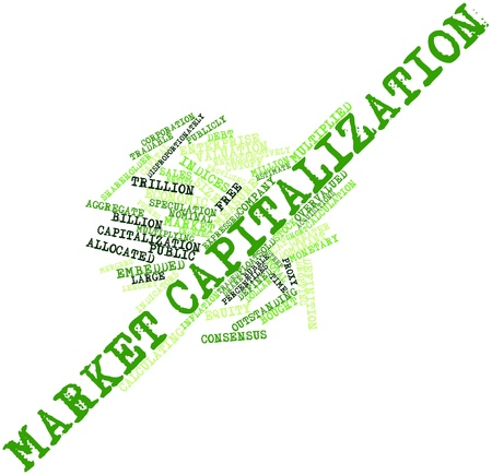 Abstract word cloud for Market capitalization with related tags and terms Stock Photo - 16559329