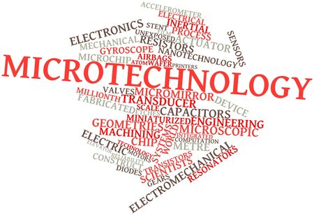 Abstract word cloud for Microtechnology with related tags and terms Stock Photo - 16559321