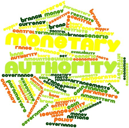 facto: Abstract word cloud for Monetary authority with related tags and terms