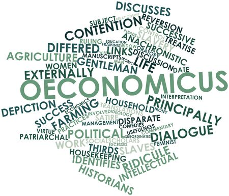 describes: Abstract word cloud for Oeconomicus with related tags and terms