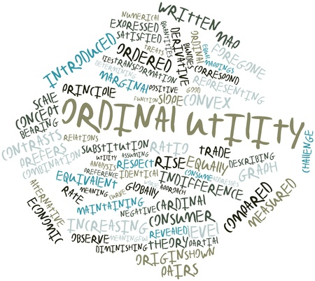 quantities: Abstract word cloud for Ordinal utility with related tags and terms
