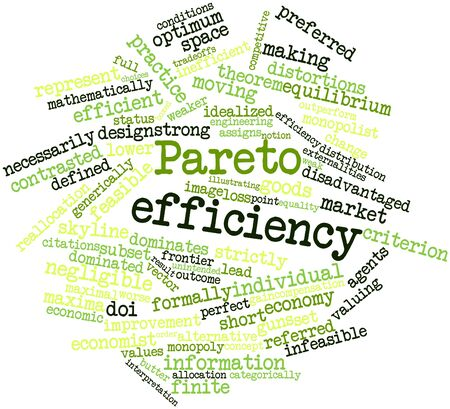 Abstract word cloud for Pareto efficiency with related tags and terms