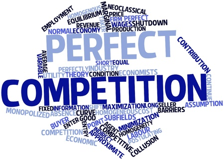 denoted: Abstract word cloud for Perfect competition with related tags and terms