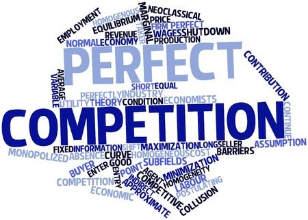 characterize: Nube palabra abstracta para la competencia perfecta con las etiquetas y t�rminos relacionados