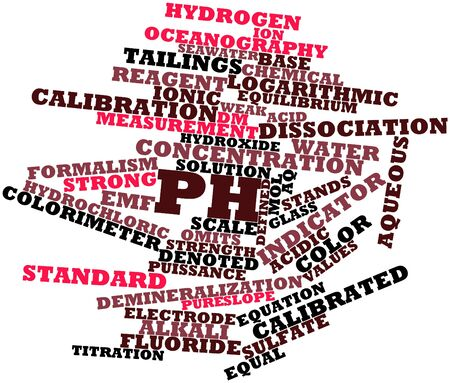 Abstract word cloud for PH with related tags and terms Stock Photo - 16559631