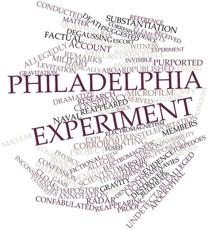 supposedly: Nube parola astratta per Philadelphia Experiment con tag correlati e termini