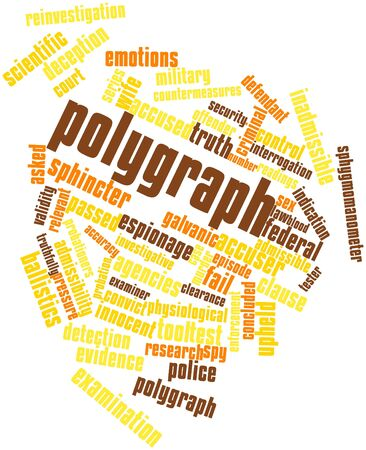 Abstract word cloud for Polygraph with related tags and terms Stock Photo - 16559634