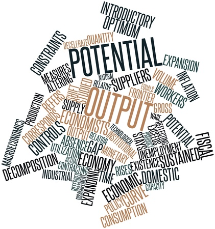 constraints: Abstract word cloud for Potential output with related tags and terms