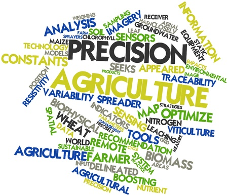 precision: Abstract word cloud for Precision agriculture with related tags and terms