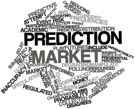 Abstract word cloud for Prediction market with related tags and terms Stock Photo - 16559497