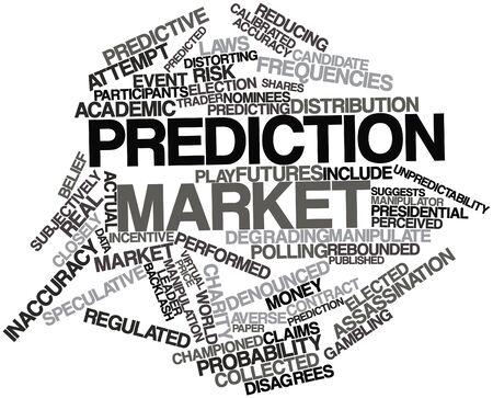 encuestando: Nube palabra abstracta para el mercado de predicción con las etiquetas y términos relacionados