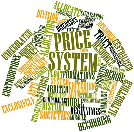 comparable: Abstract word cloud for Price system with related tags and terms