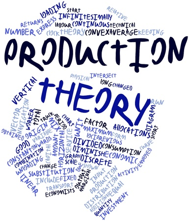 Abstract word cloud for Production theory with related tags and terms Stock Photo - 16559718