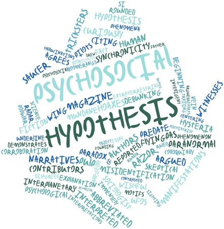 immensely: Abstract word cloud for Psychosocial hypothesis with related tags and terms