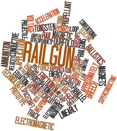 linearly: Abstract word cloud for Railgun with related tags and terms